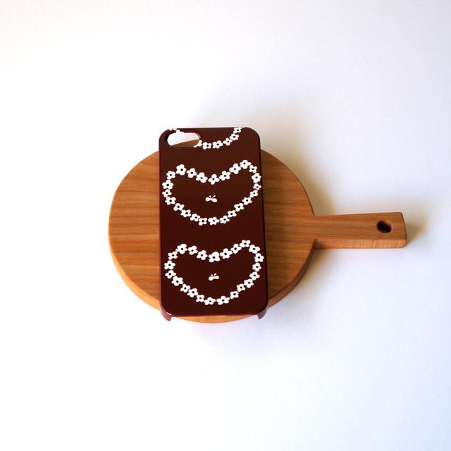 humming heart ( brown ) スマホケース...