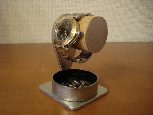 腕時計スタンド 1本掛け腕時計スタンド 黒丸トレイバージョン
