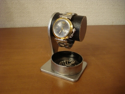 父の日 腕時計スタンド 1本掛け腕時計スタンド オールブラックバージョン