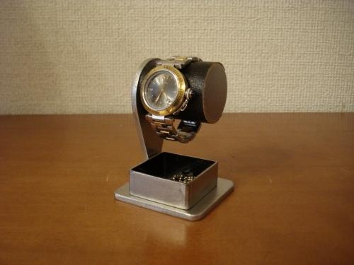 父の日に 腕時計スタンド ブラックコルク腕時計スタンド 角トレイバージョン