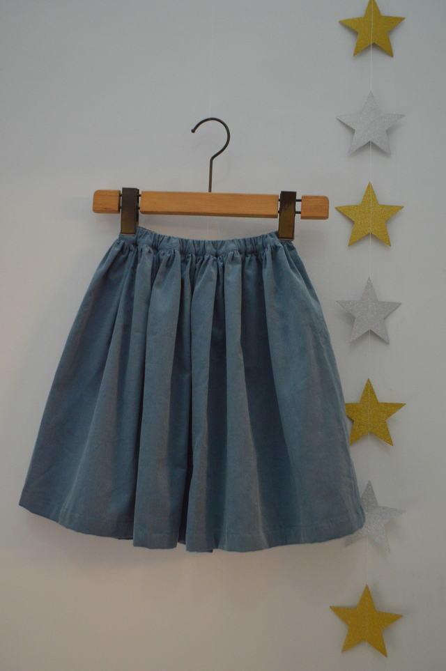 キッズ コーデュロイギャザースカート...