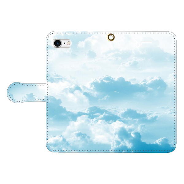 a sky with clouds 手帳型スマホケース