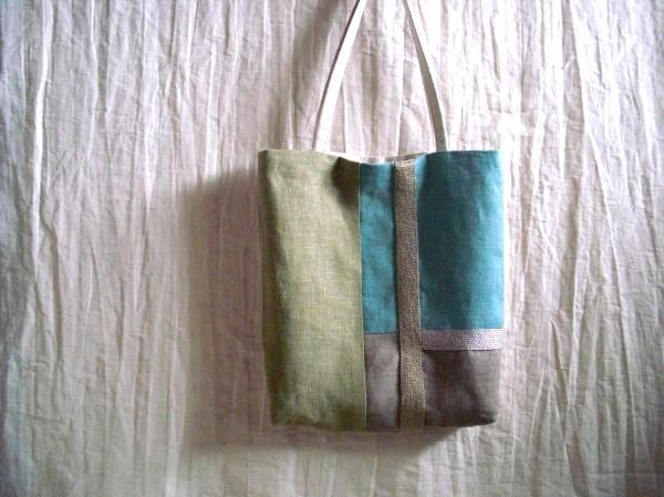 itoiro mini bag (beige&blue/green)