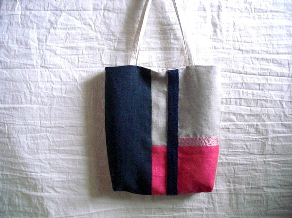 itoiro mini bag (navy&pink)