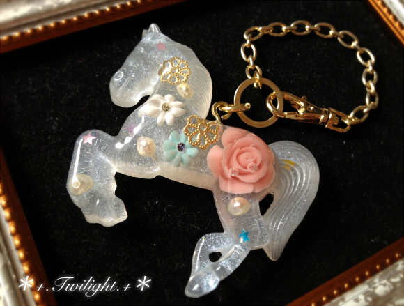 【sold out】*+.Graceful horse.+*バッグチャーム