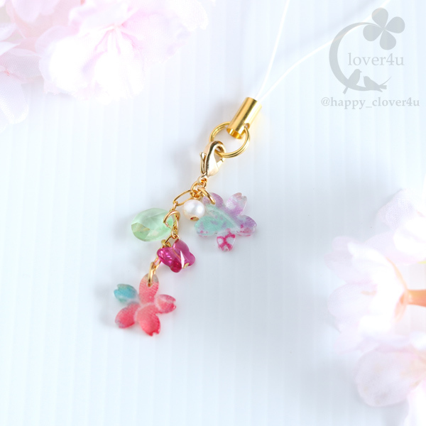 【さくら、咲く】和柄生地の桜と蝶のス...