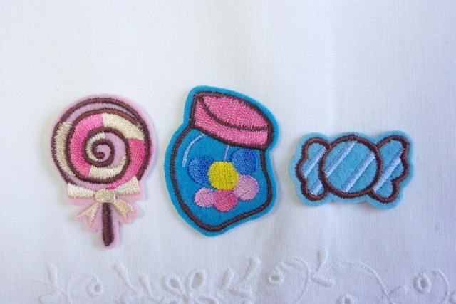 9個 お菓子のアイロンアップリケ 各3種×3枚 M33