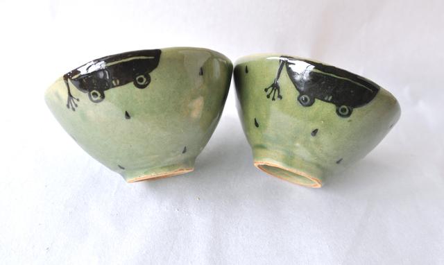 かえるご飯茶碗 single(手びねり)