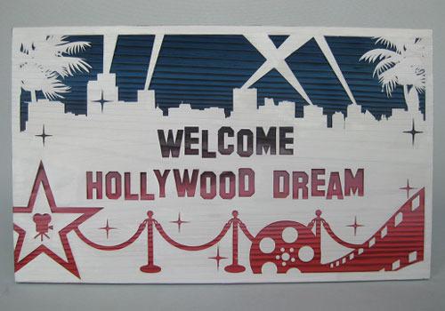木彫りウェルカムボード「ハリウッド」