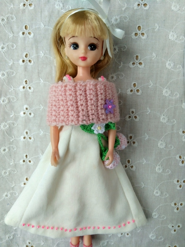 りかちゃん「ケープ付ドレス」