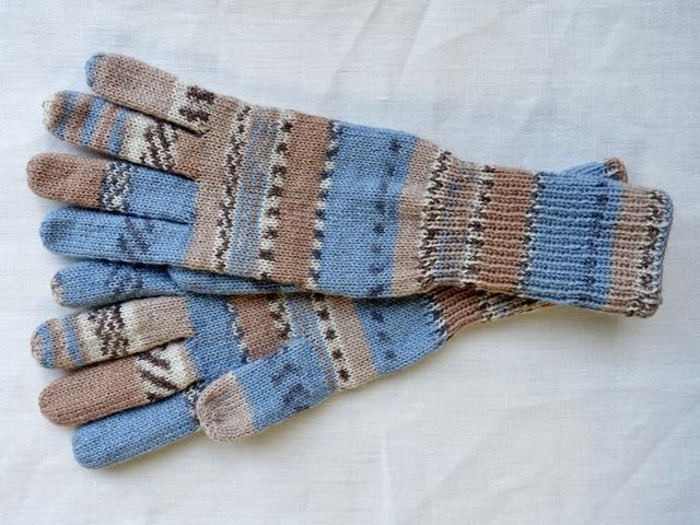 手編み5本指手袋 No.57
