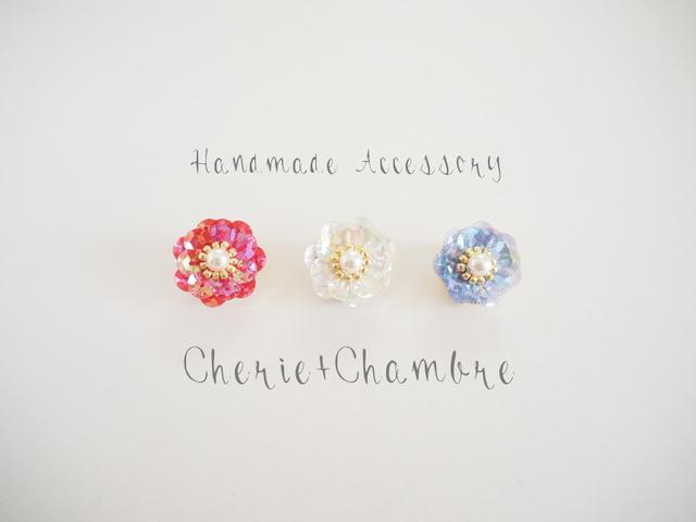 Spangle Flower Pierce&Earring