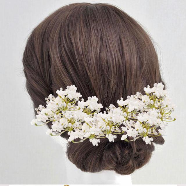 オーダー品 かすみ草の髪飾り 10本セット