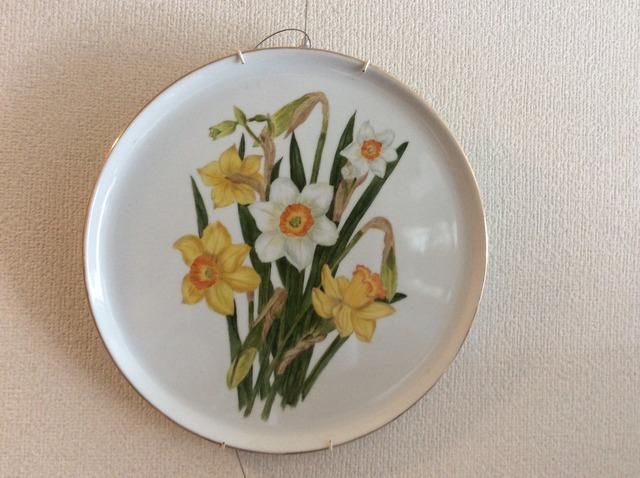 ラッパ水仙の絵皿