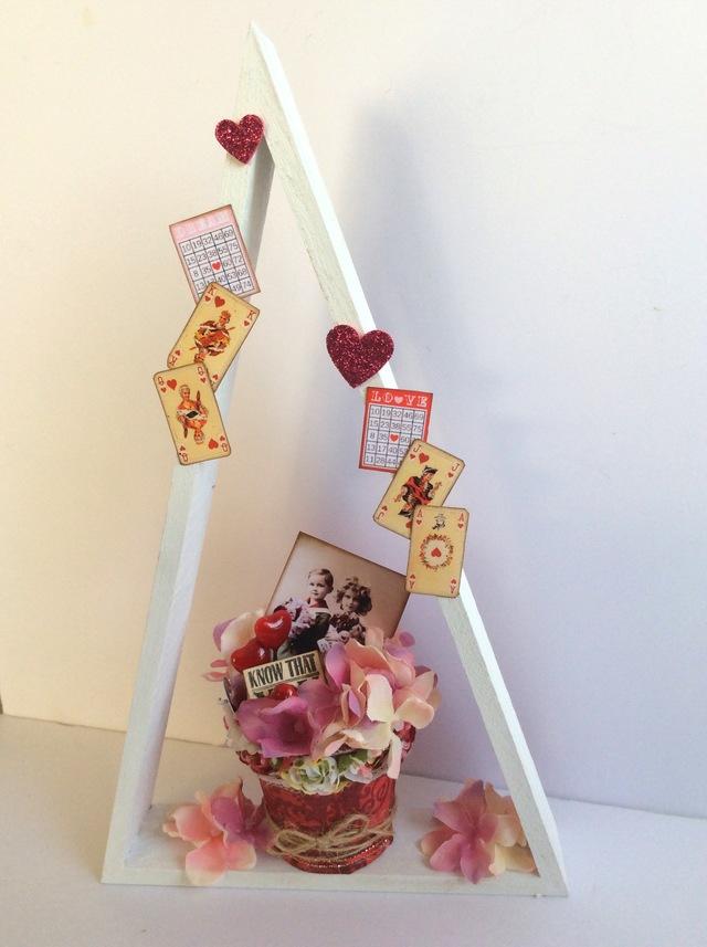 バレンタイン 三角スタンド