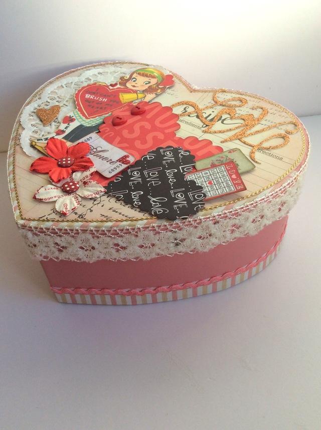 バレンタイン コラージュハートBox