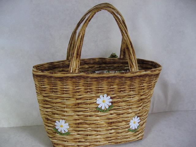 お花のかごバッグ