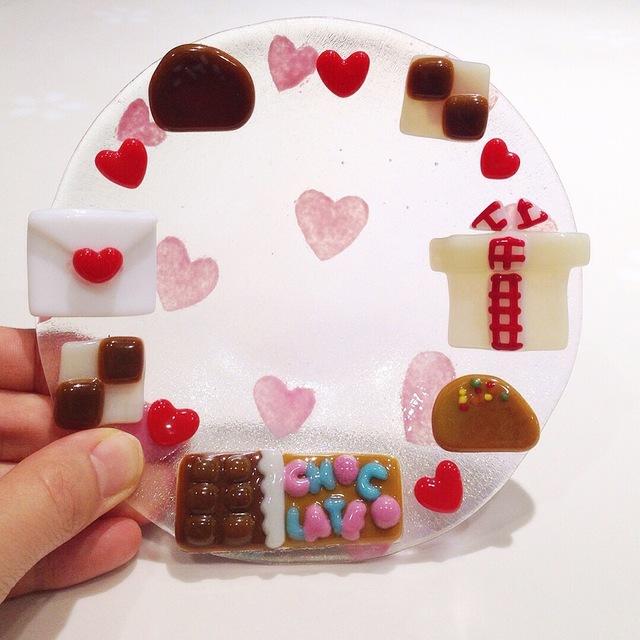 バレンタインなお皿