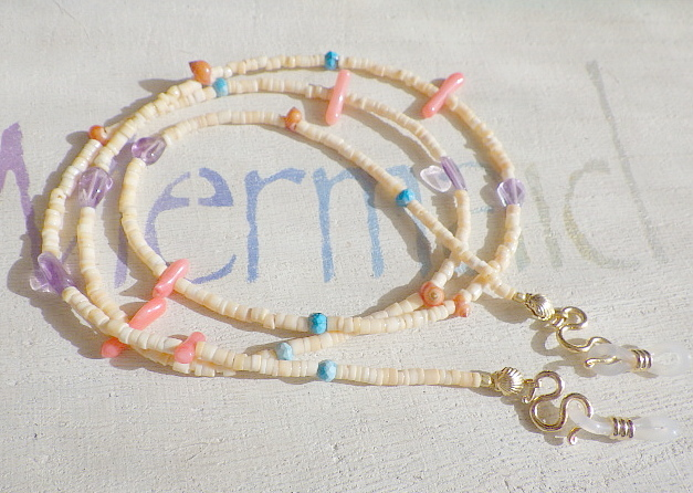 2way! Seashell Eyeglass Holder Necklace