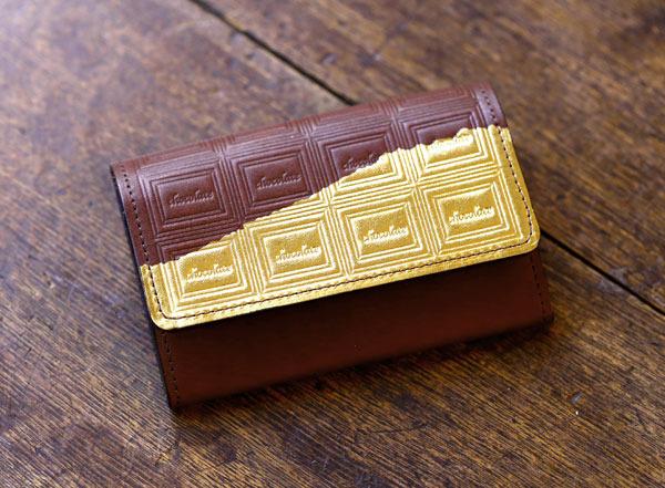 革のチョコレート・名刺入れ(金の包み紙)