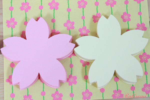 さくらカード(ピンク40枚×クリーム...