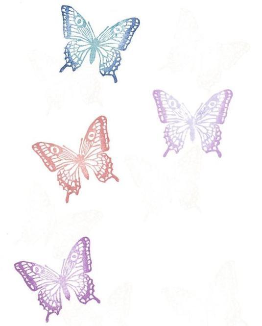 消しゴムはんこ Butterfly