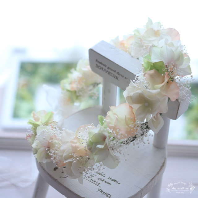 花冠*スイトピー&アジサイ&かすみ草*...