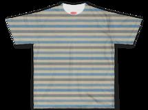 ビンテージ ストライプ Tシャツ【ライトブルー】