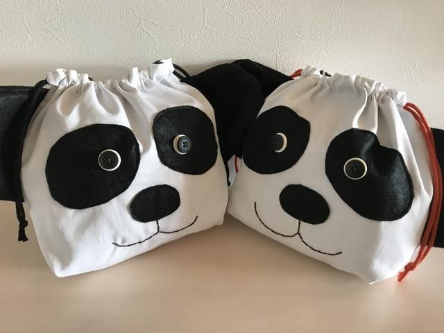 パンダさんのお弁当袋