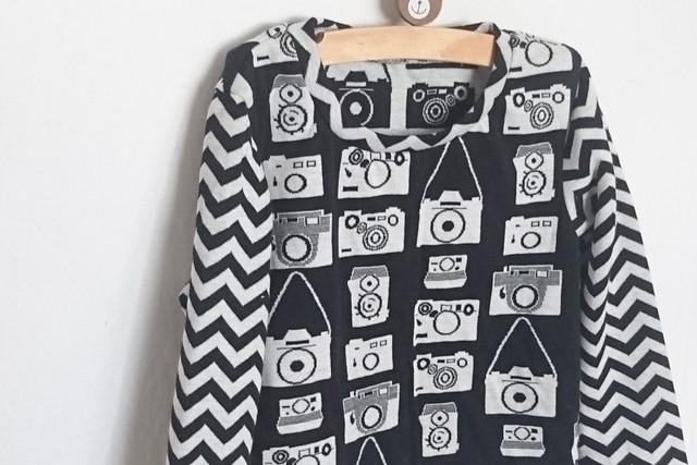 カメラ柄スタンダードTシャツ120