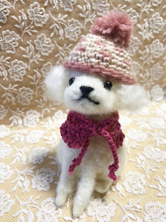 羊毛フェルト  プードルちゃんホワイト
