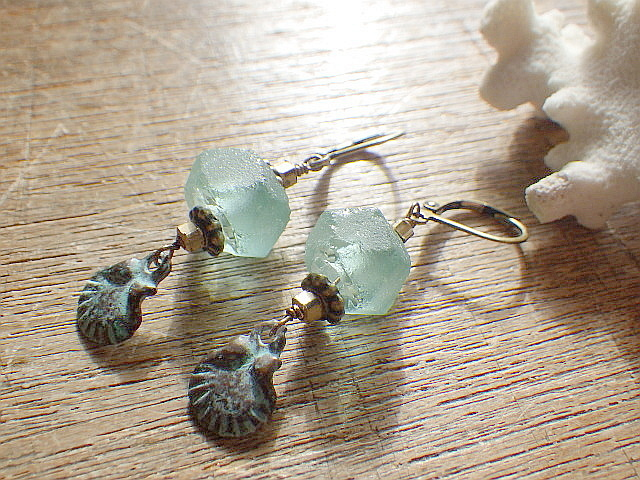 Sea glass recycled glass ヴィンテージ...