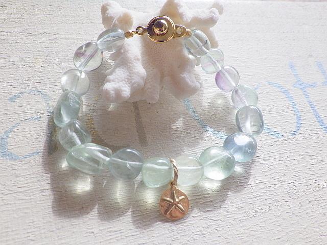 fluorite beach bracelet-sand dollar ...