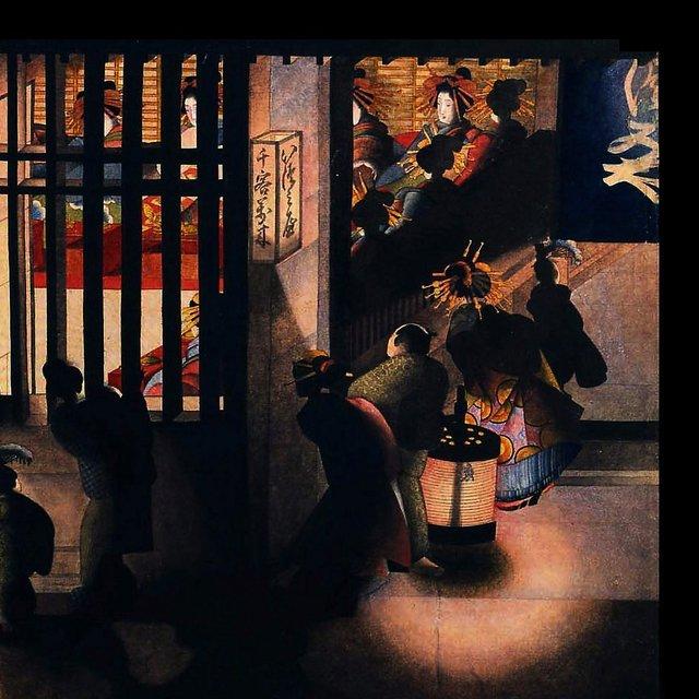 葛飾応為「吉原格子先之図」─光と影の美 | 太田記念美術館