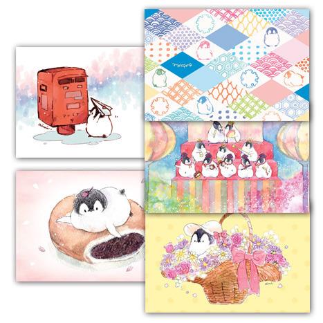 ポストカード5枚セット 春(もこぺん)