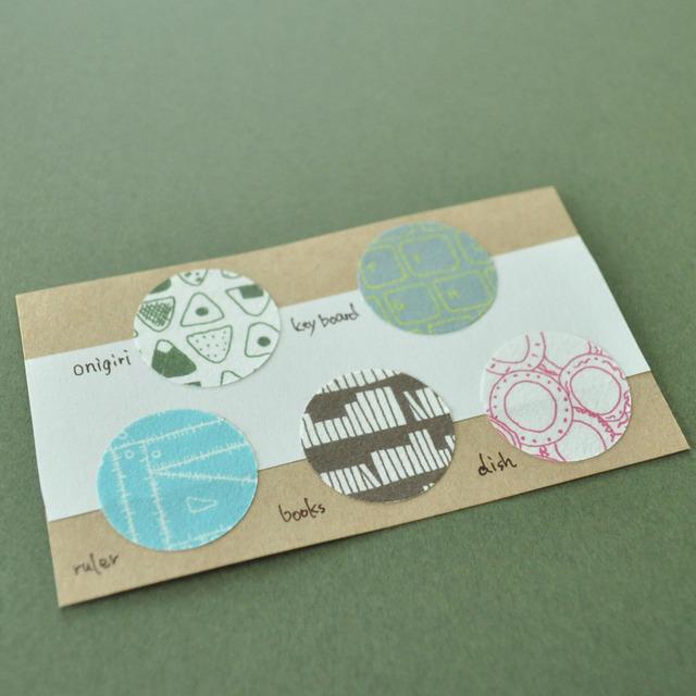 シール50枚入り(5柄×10)Textile seal*Days