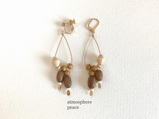 時間(clip-on/pierced earrings)