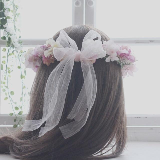 花冠*オールドローズ&スイトピー&アジ...