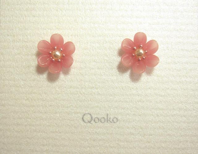 ガラスの花 (ピンク・ハナビラ6枚) ◆ご予約品◆
