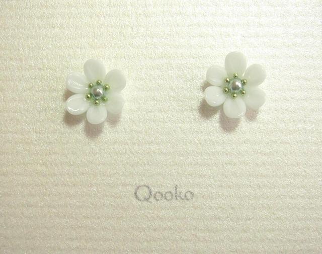 ガラスの花 (ミントグリーン・ハナビラ6枚)