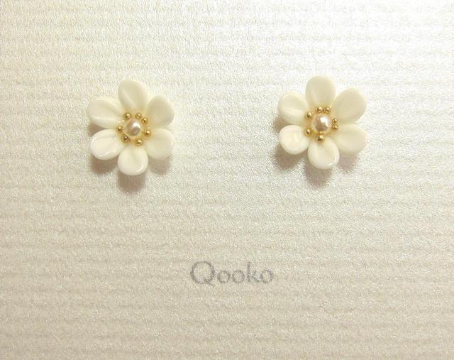 ガラスの花 (ホワイト・ハナビラ6枚) ※ご予約品