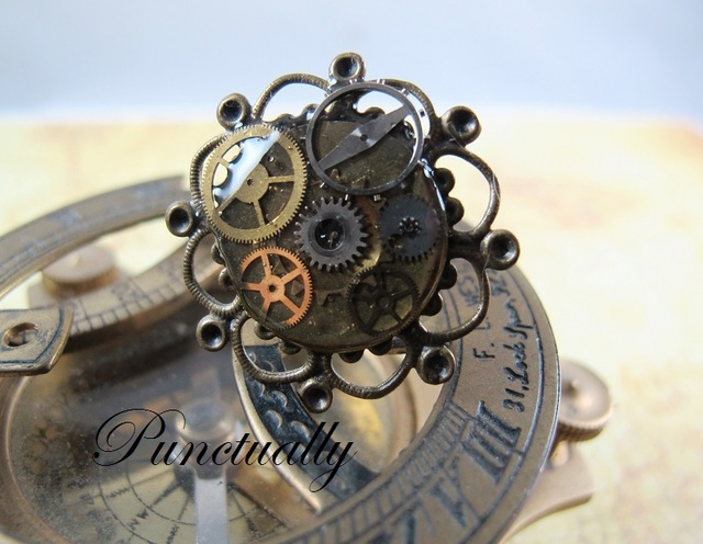 お花のような時計のリング (pt-012)