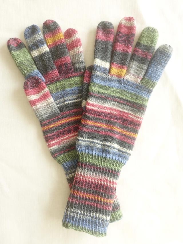 手編み5本指手袋 No.58