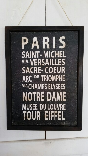 【再販】バスロールサイン風フレーム*ビンテージ*PARIS