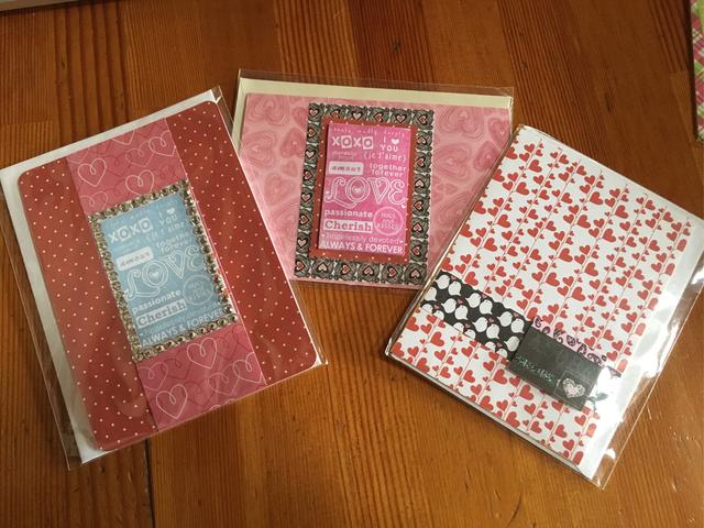 バレンタインカード 3枚セット (送料無料)