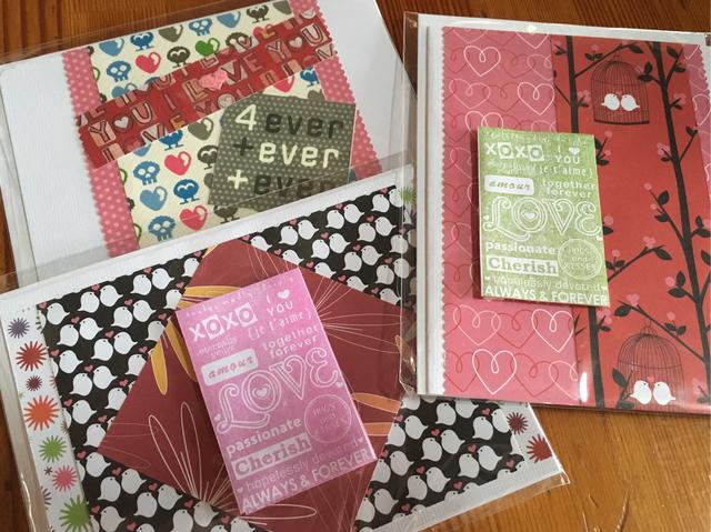 バレンタインカード 3枚セット Bセット