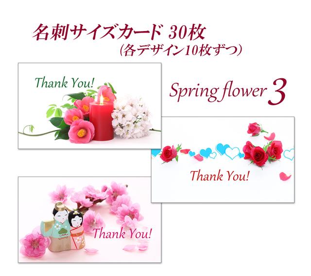 春の花 3   名刺サイズサンキューカー...