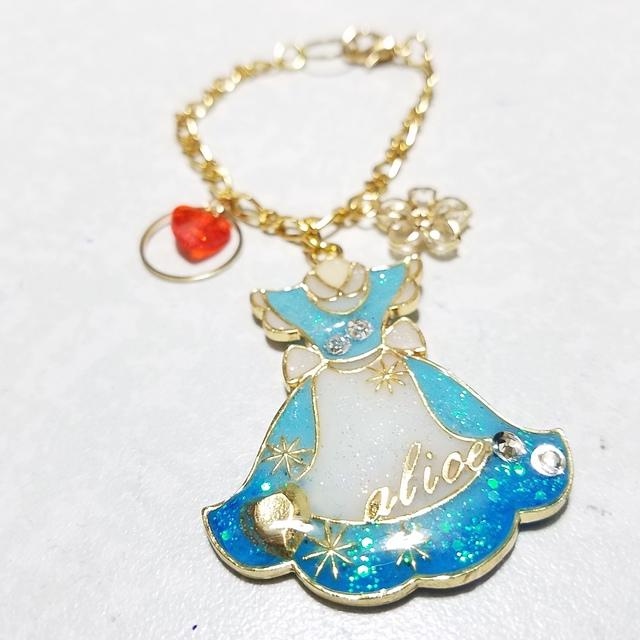 アリスのドレスのバックチャーム(ハンドメイド・レジン・チャーム)