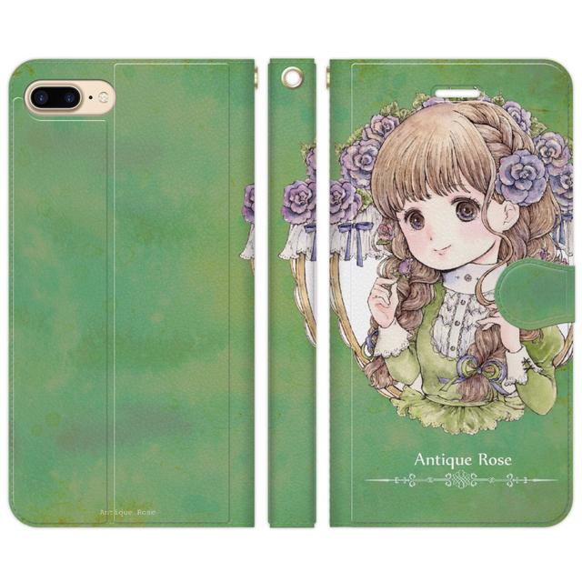 iPhone5〜8対応手帳ケース【アンティー...