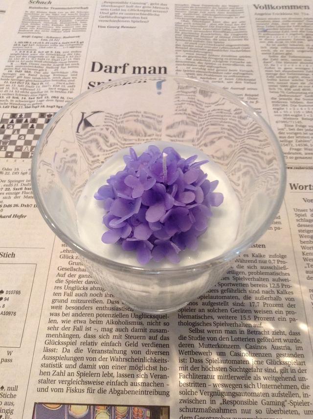 紫陽花アロマキャンドル
